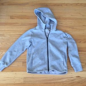 Uniqlo thick grey full zip hoody sz 11 thick style